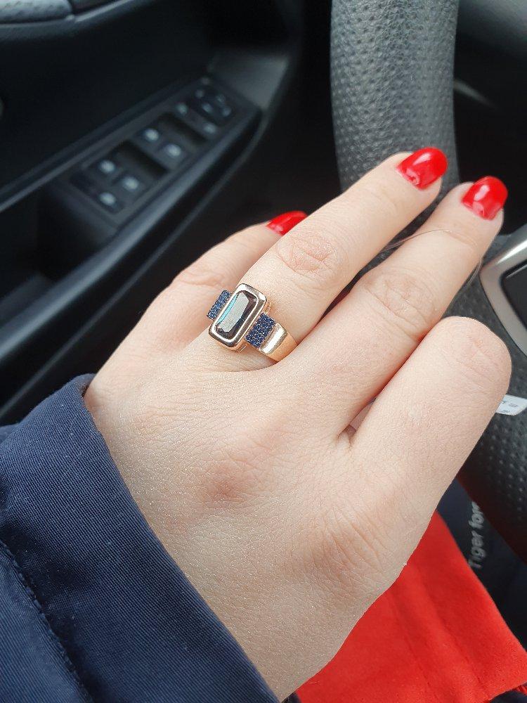 Кольцо с наносапфирами