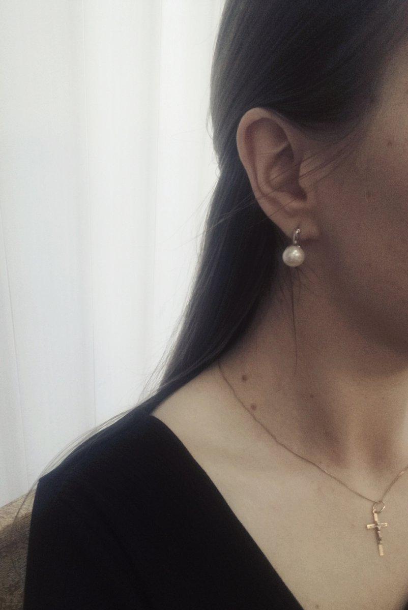 Прекрасные минималистичные  серьги с жемчугом