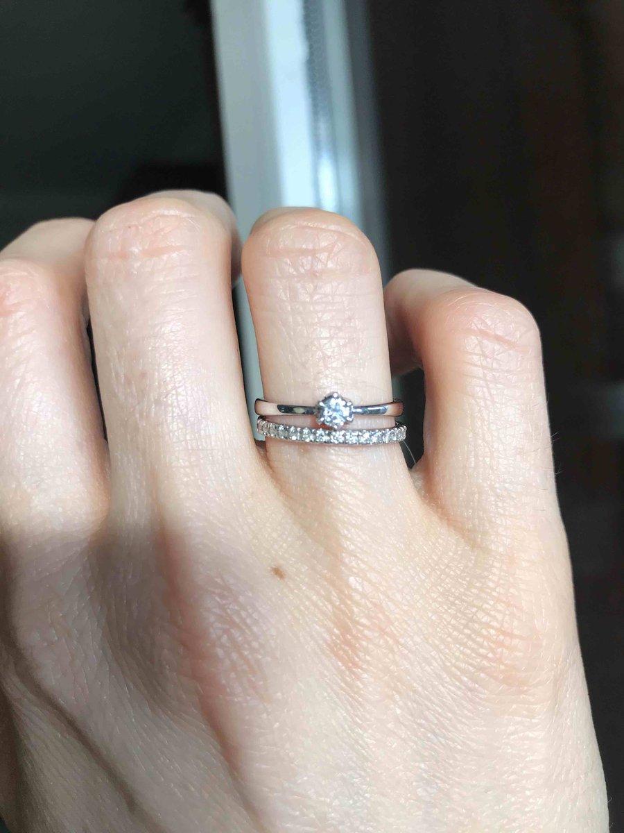 Кольцо из белого золота, с бриллиантами