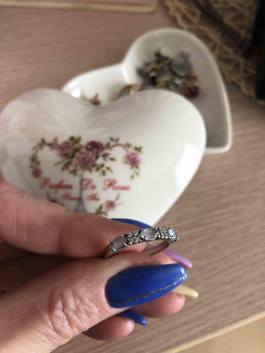 Кольцо серебро с топазом