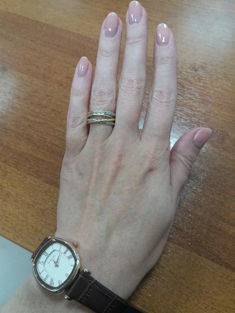 Кольцо с бриллиантовой крошкой