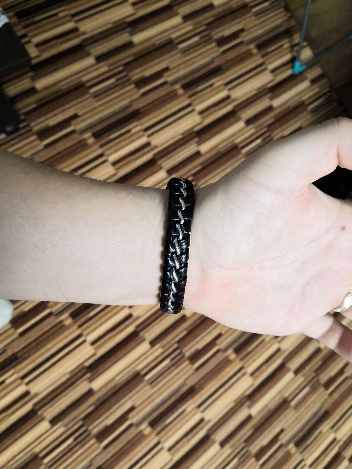 Мужской браслет из кожи