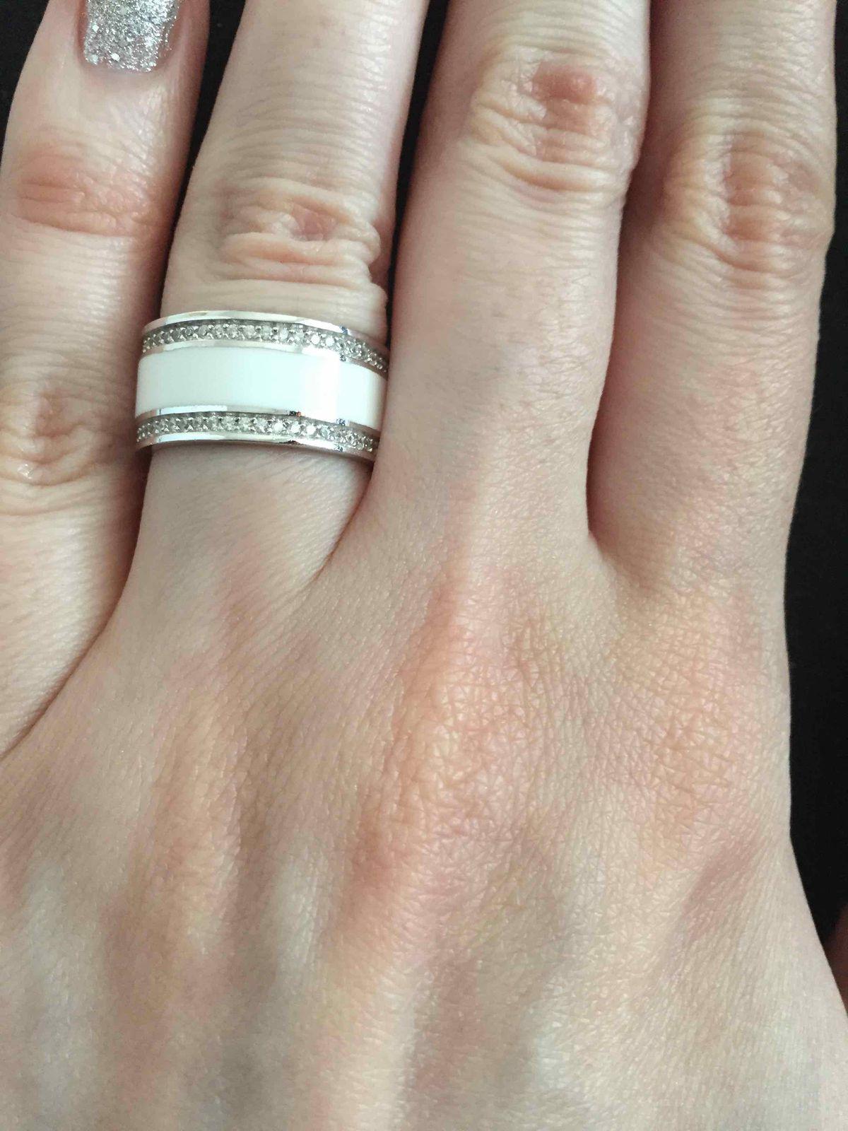 Кольцо из серии серебро с эмалью