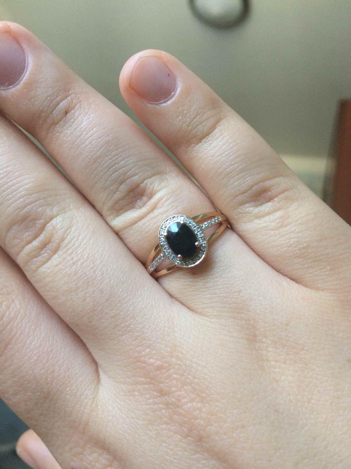 Класическое кольцо с сапфиром