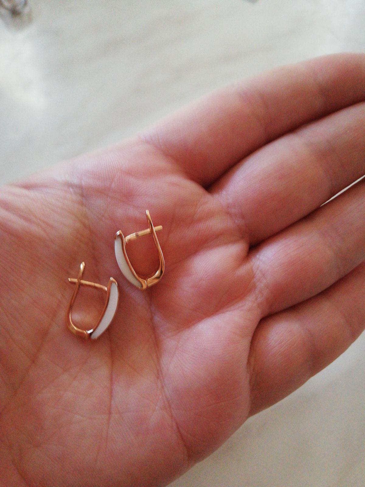 Серёжки с керамикой