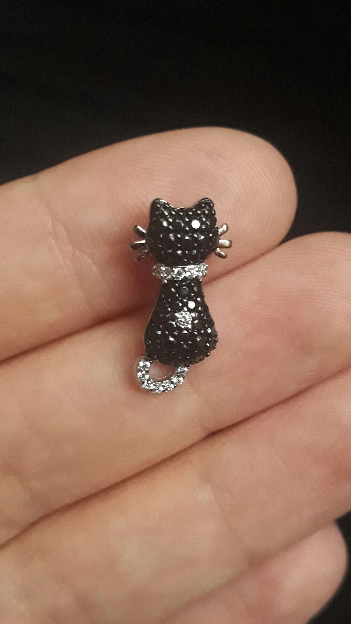 Подвеска чёрная кошка!