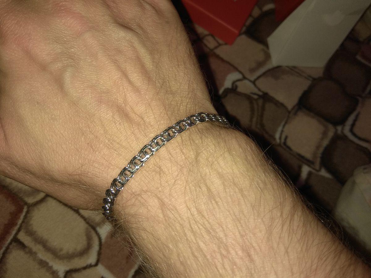 Добротный браслет из серебра