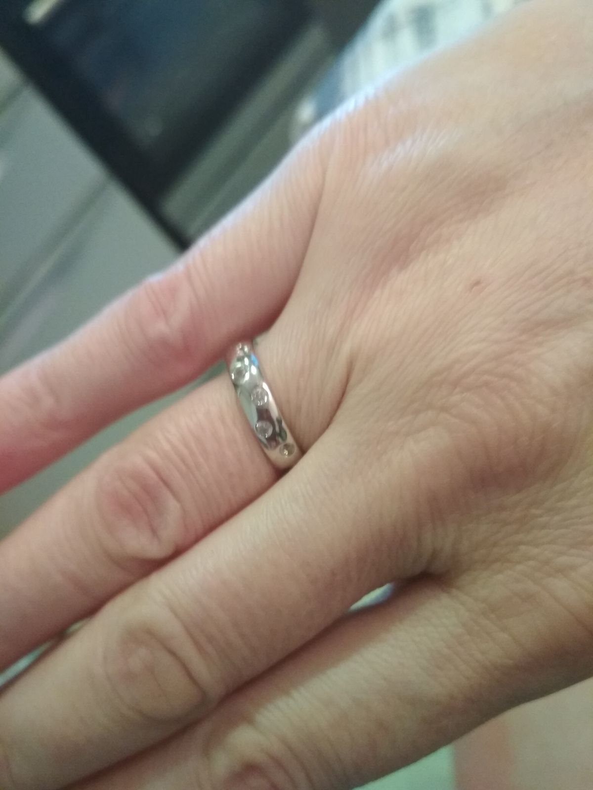 Кольцо на серебряную свадьбу