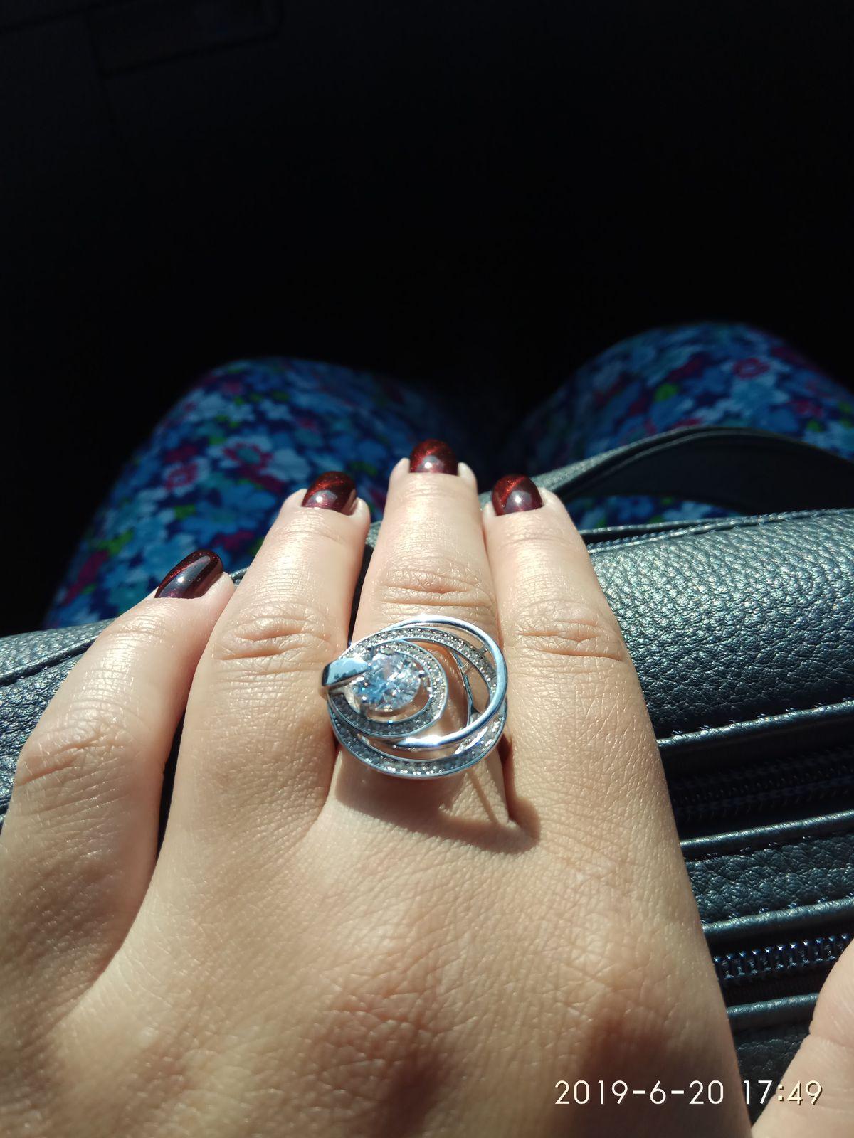 Шикарное кольцо МЕЧТА