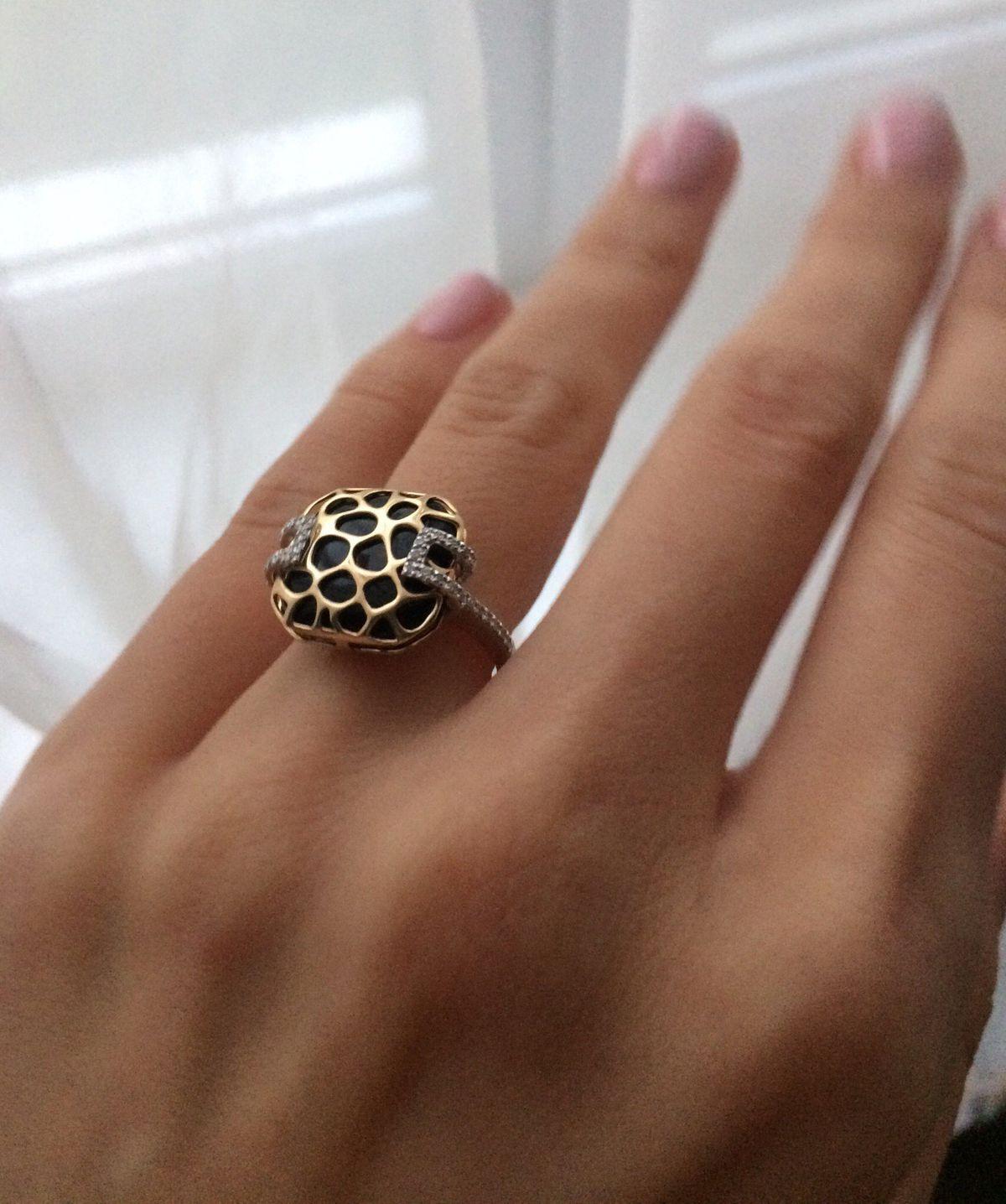Оникс с бриллиантами