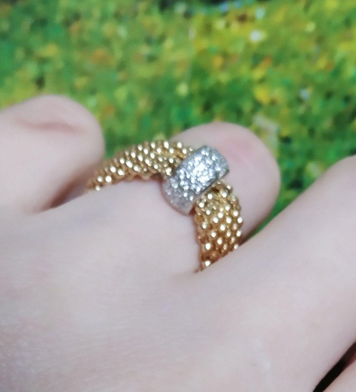 Кольцо из серебра с позолотой.