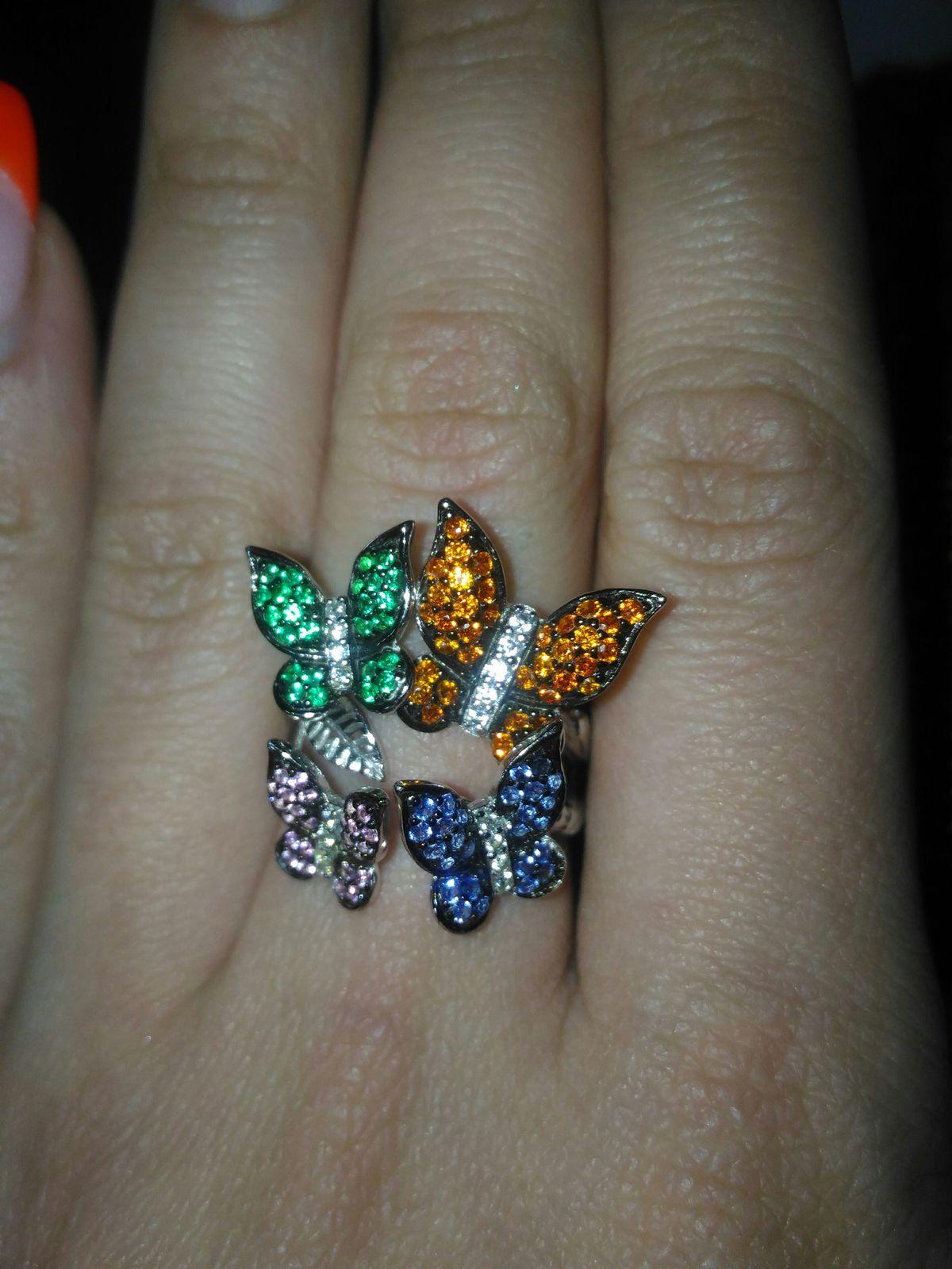 Кольцо бабочки