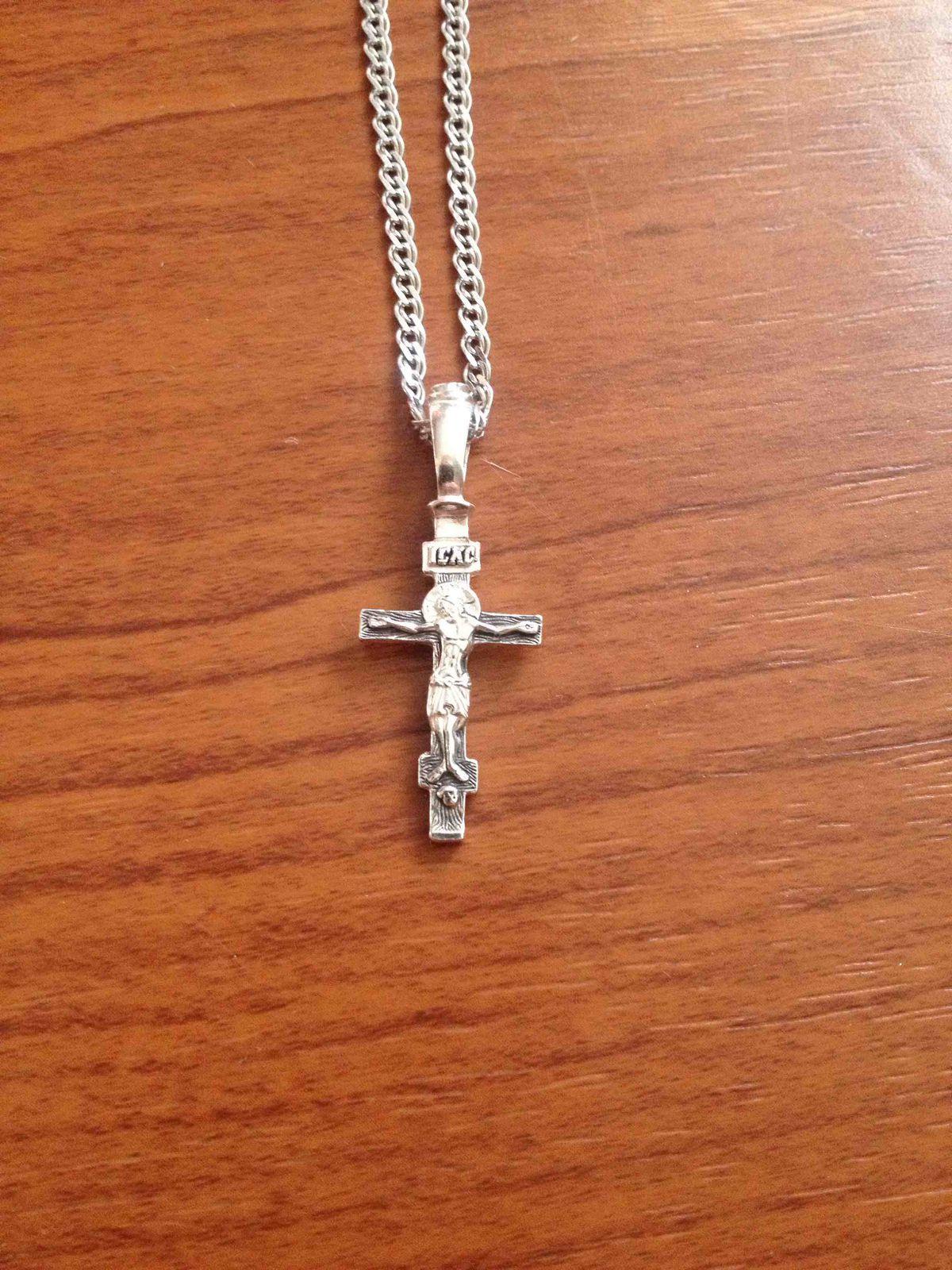 Серебрянная подвеска (крестик)