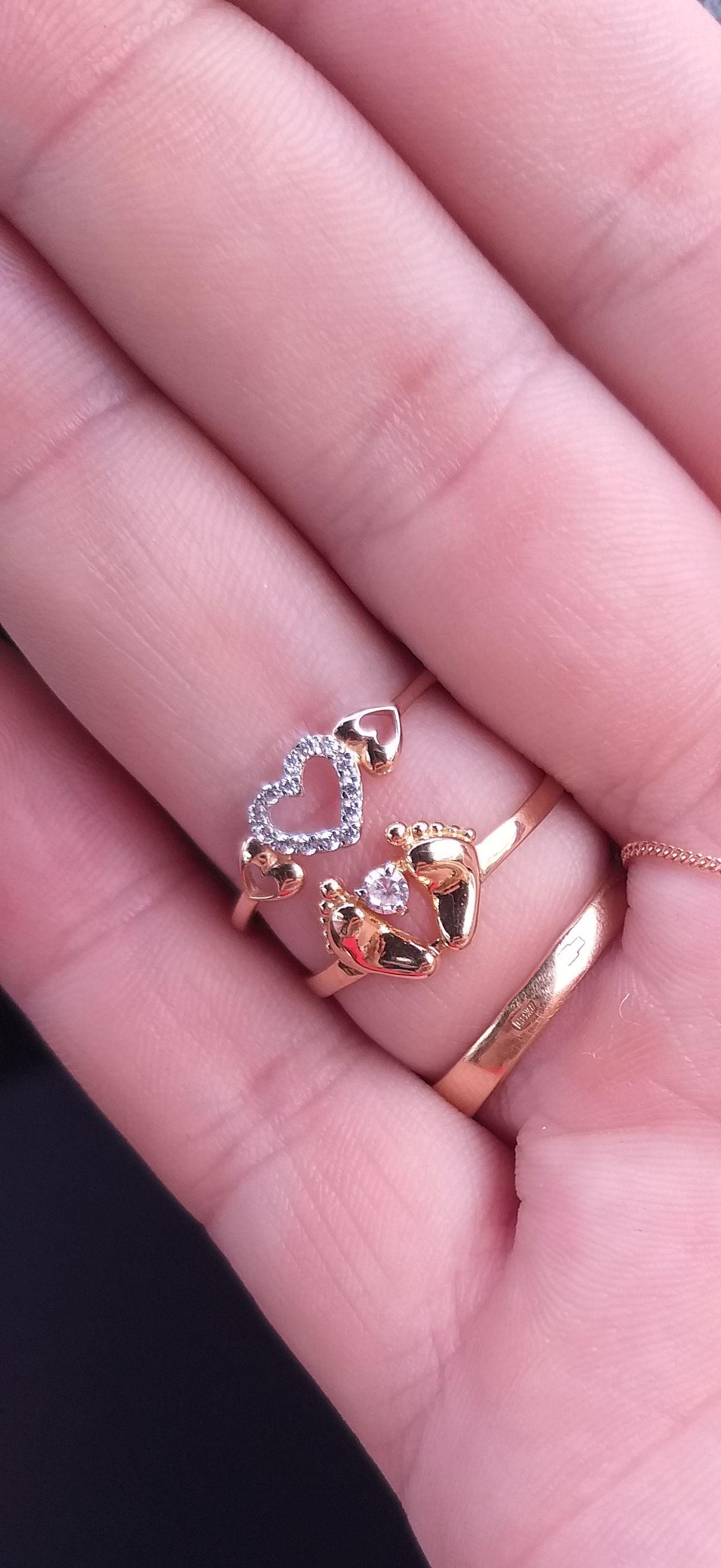 Кольцо с сердечки