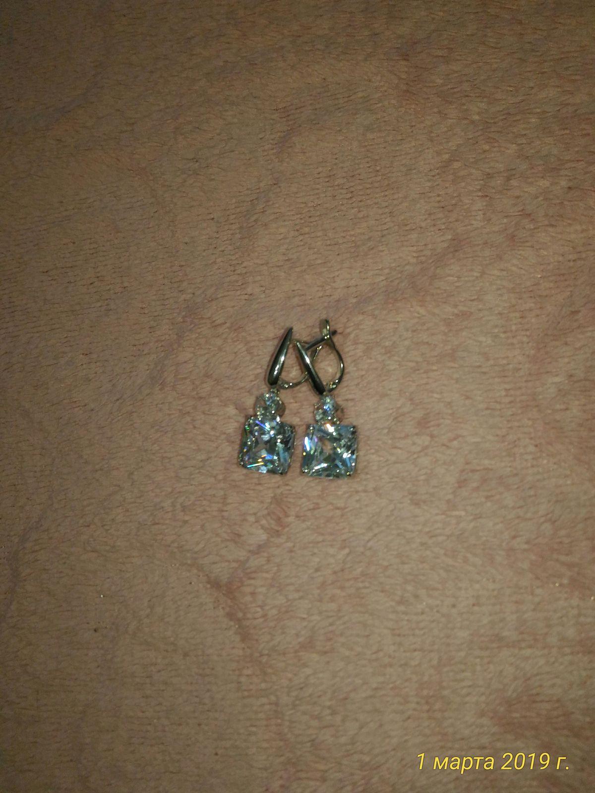 Серебро. серьги с двумя камнями