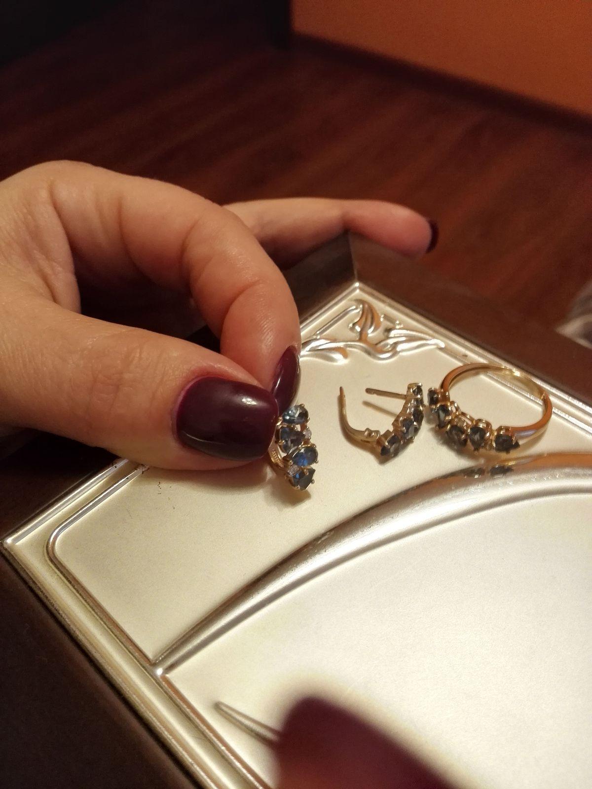 Кольцо с серьгами