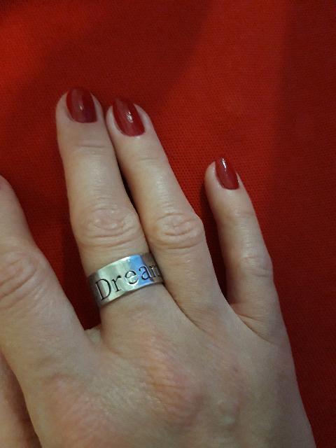 Серебряное кольцо широкое с гравировкой