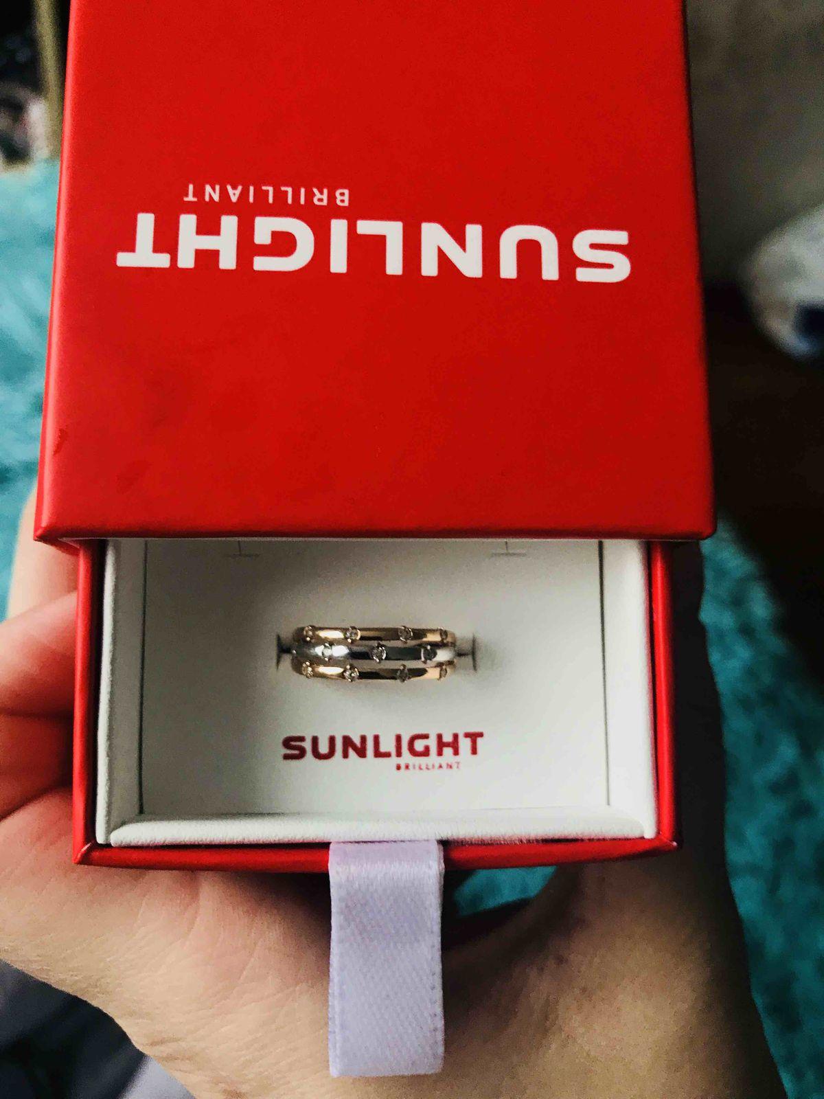 Кольцо из бело-желтого золота