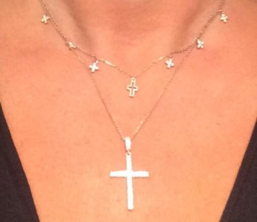 Колье с крестиками
