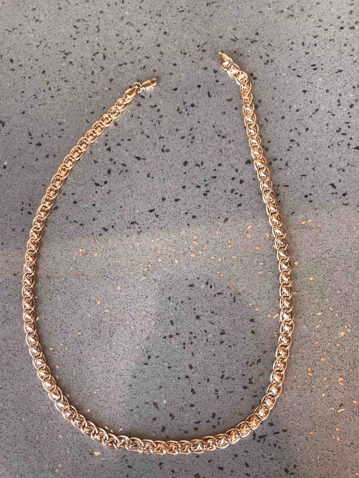 Ювелирное изделие, цепь из золото 585 пробы.