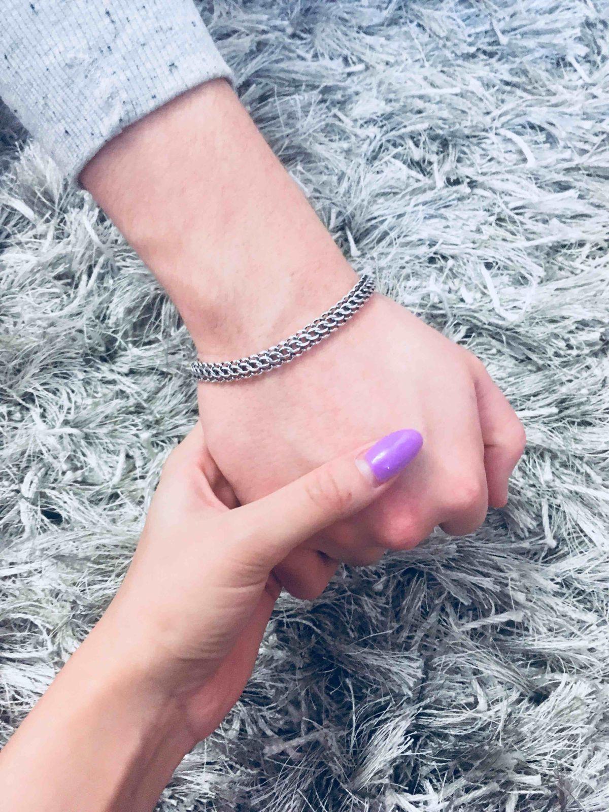 Мужской, серебряный браслет
