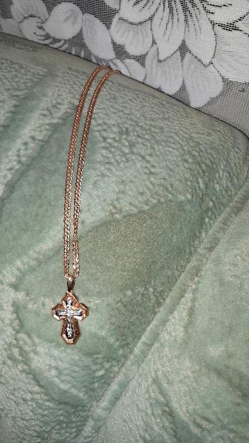 Крестик золотой, православный