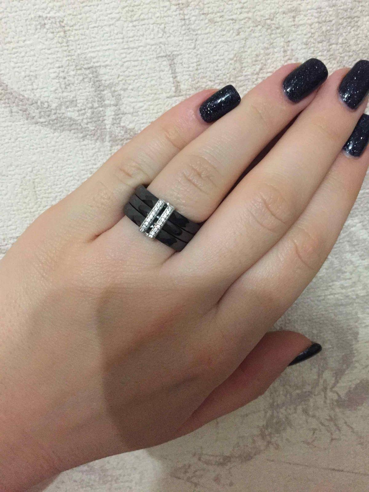 Черная керамика с серебром
