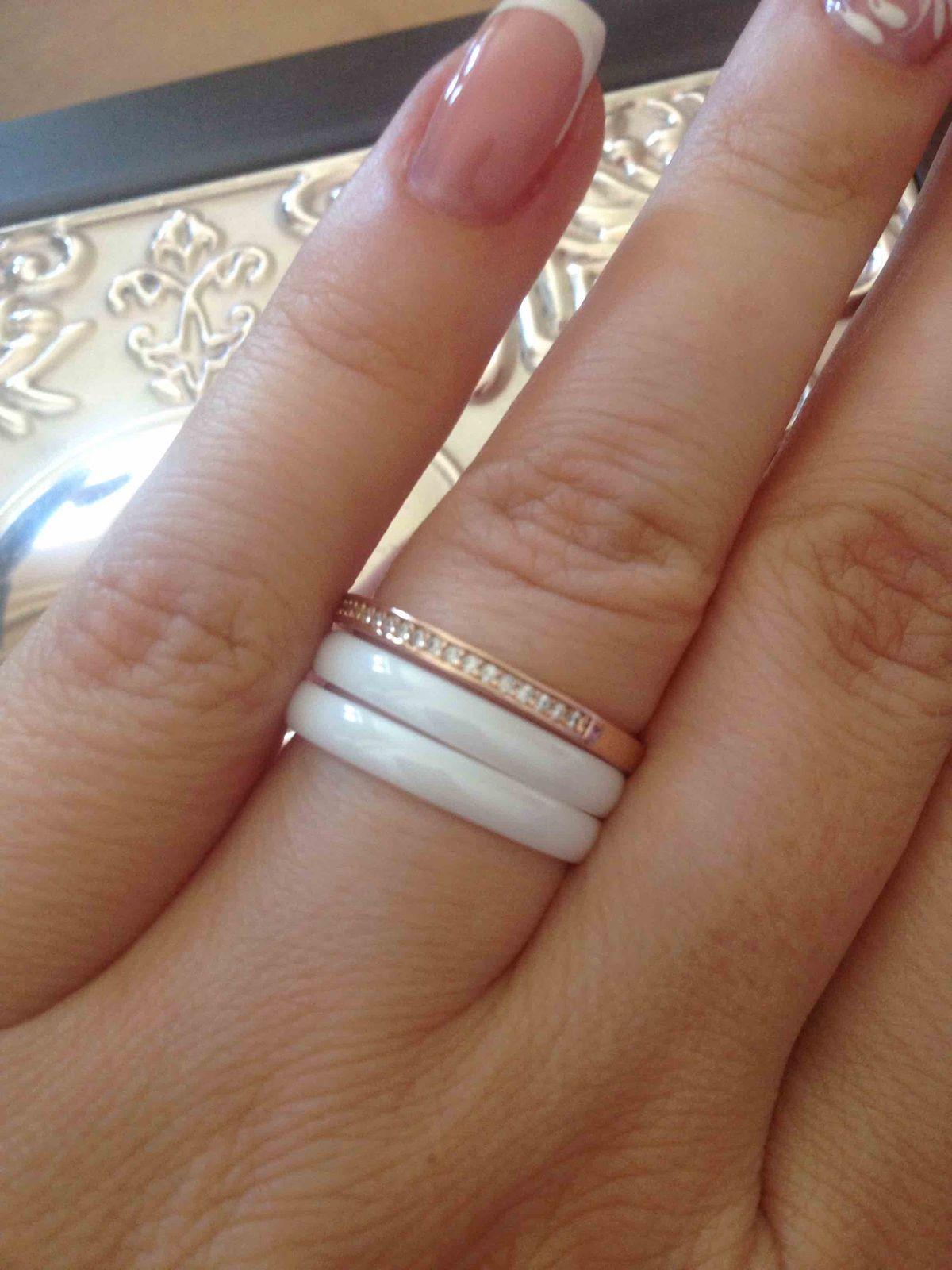 Кольцо из серебра и керамики