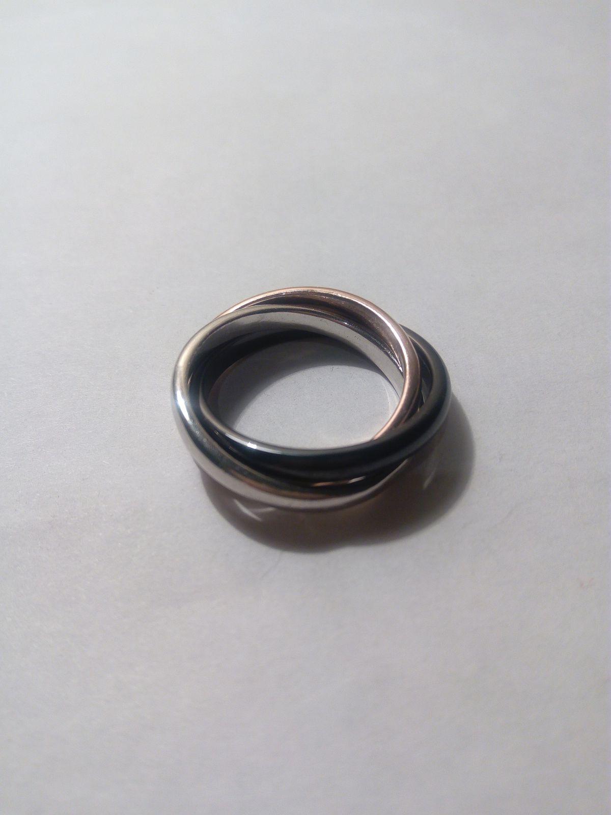 Стильное кольцо 3 в 1