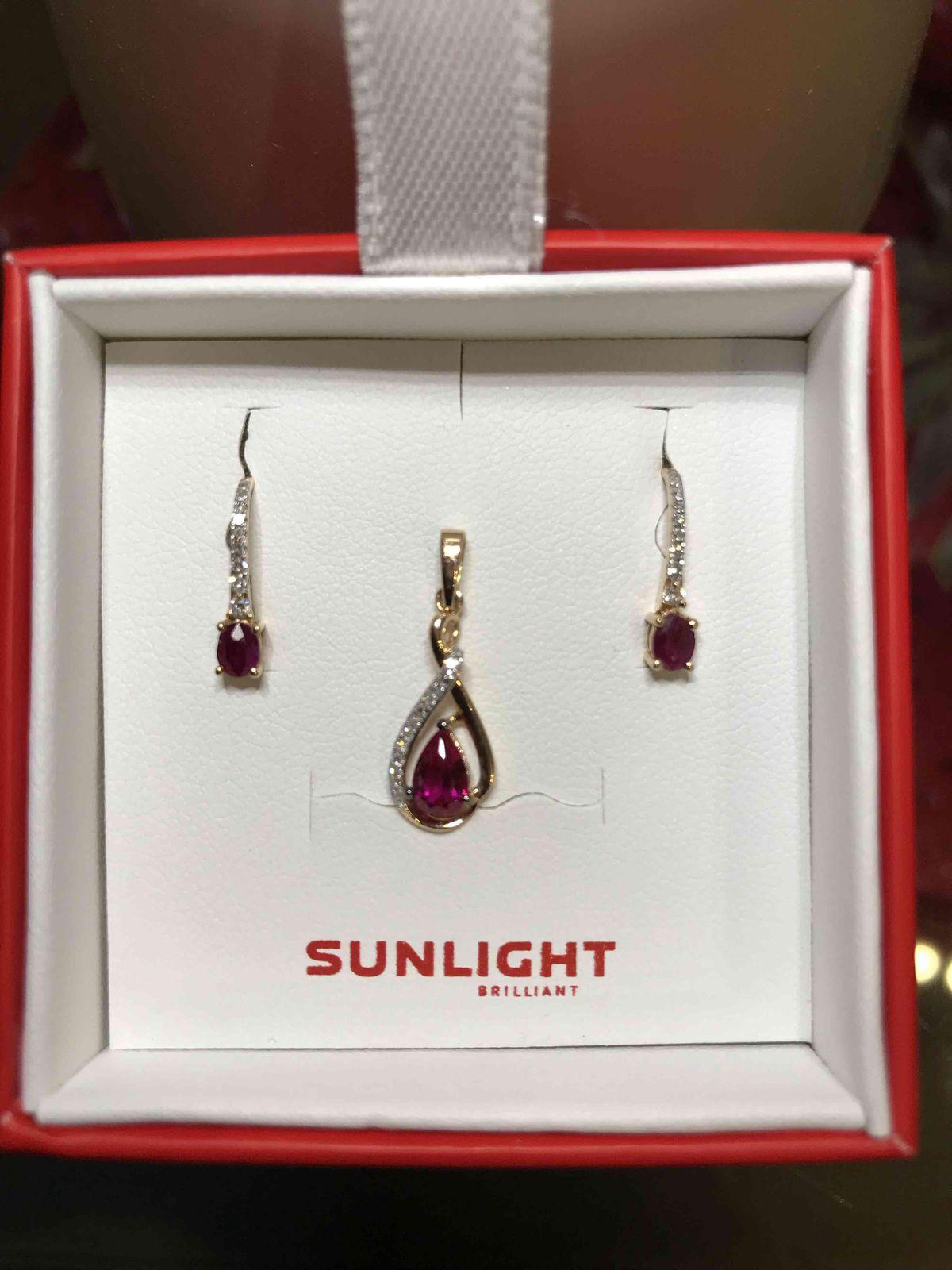 Рубин и бриллианты