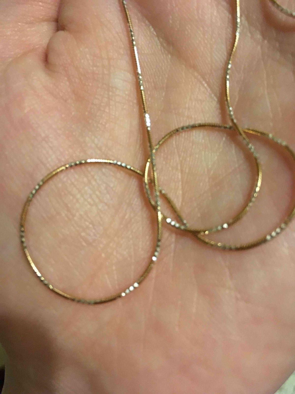 Цепочка серебрянная с позолотой